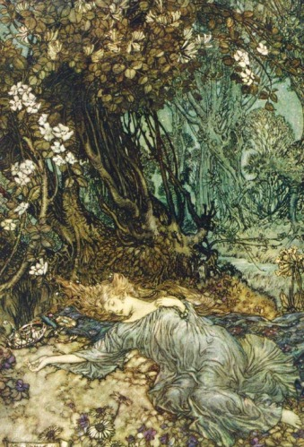 Illustration for A Midsummer Night's Dream by Arthur Rackham