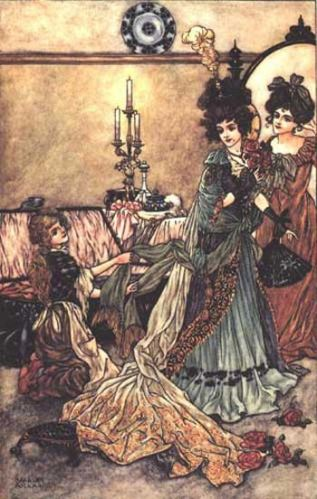 Illustration for Cinderella by Charles Folkard