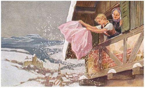 Illustration for Frau Holle