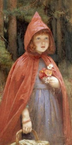 Illustration for Little Red Riding Hood by Sir John Everett Millais