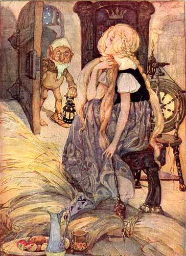 Illustration for Rumpelstiltskin by Anne Andersen