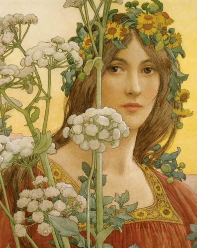 Our Lady of the Cow Parsley by Elizabeth Sonrel