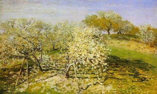 Apple Trees in Bloom by Claude Monet