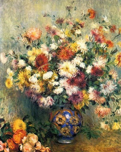 Bouquet of Chrysanthemums by Pierre-Auguste Renoir