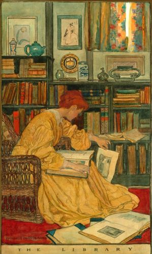 The Library by Elizabeth Shippen Green