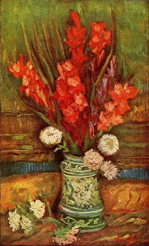 Vase with Red Gladioli by Vincent Van Gogh