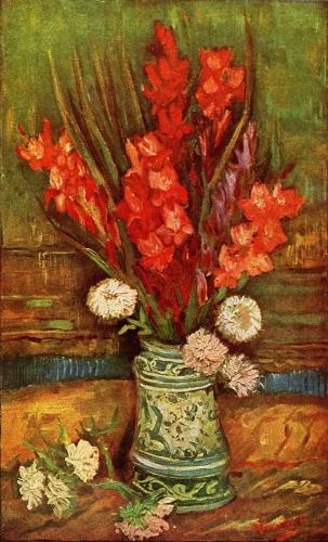 Vase with Red Gladioli by Vincent Van Gogh