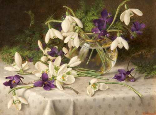 Snowdrops and Violets by Eva Francis