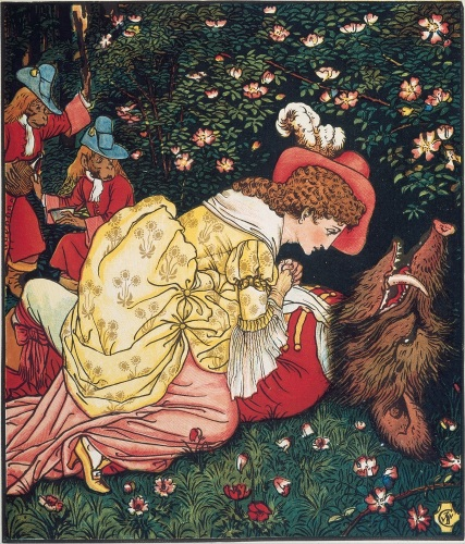 Beauty and the Beast 2 by Walter Crane