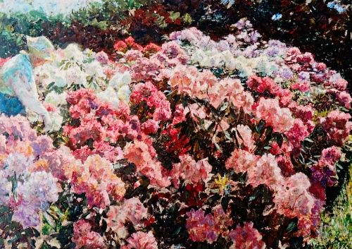Rhododendron in Tuxen's Garden by Laurits Tuxen