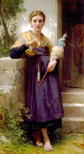 The Spinner by William-Adolphe Bouguereau