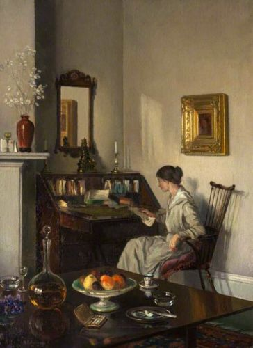 Woman at a Bureau by William Smith Anderson