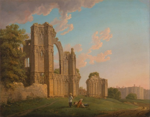 St. Mary's Abbey, York by Michael Angelo Rooker