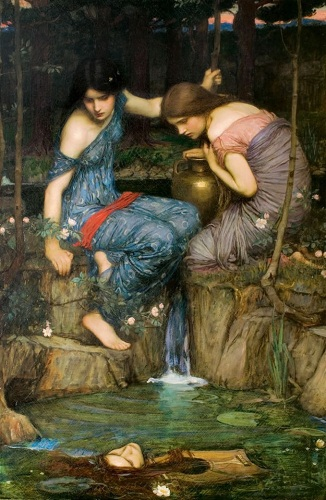 nymphs-finding-the-head-of-orpheus-by-john-william-waterhouse