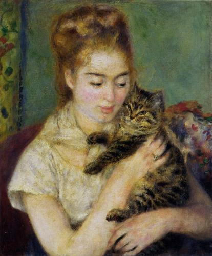 woman-with-a-cat-by-pierre-auguste-renoir