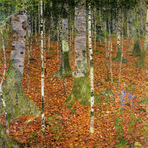 farmhouse-with-birch-trees-by-gustav-klimt