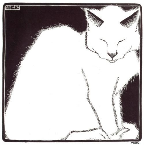 white-cat-by-m-c-escher