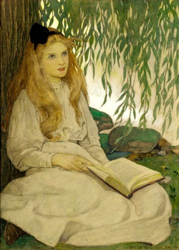 with-thoughtful-eyes-by-jessie-wilcox-smith